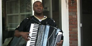 Bruce Sunpie Barnes in the Accordions Rising documentary film