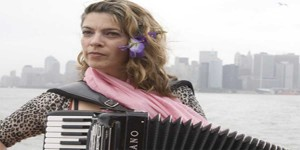Rachelle Garniez in the Accordions Rising documentary film
