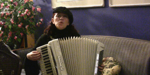 Marni Rice in the Accordions Rising documentary film