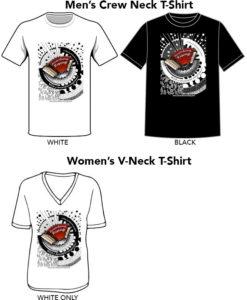 Accordions Rising Documentary Film T-shirt: Men's Crew-neck and Women's V-neck